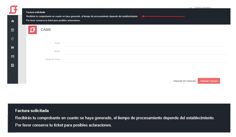 """FIGURA 13. MENSAJE DE FACTURACIÃ""""N PENDIENTE"""