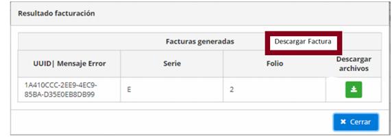 FIGURA 3. DESCARGAR FACTURA