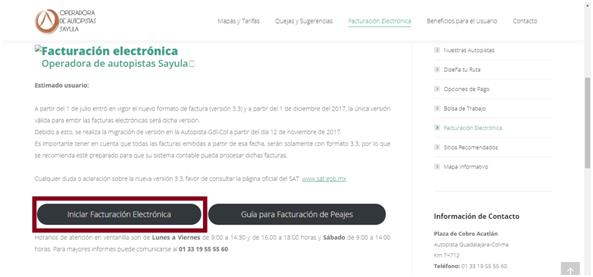 FIGURA 2. P�GINA DE FACTURACIÓN DE AUTOPISTA GUADALAJARA COLINA