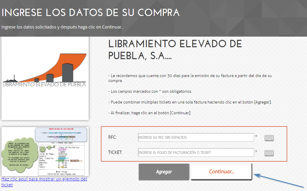 FIGURA 3. ANEXAR DATOS DE RFC Y TICKET