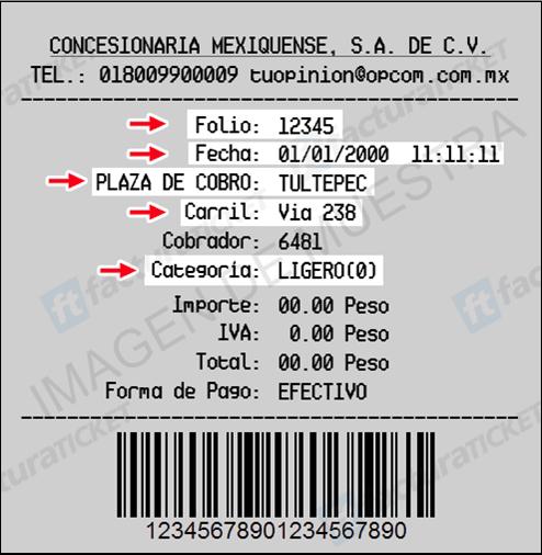FIGURA 3. EJEMPLO DE TICKET