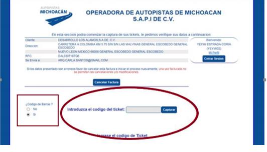 """FIGURA 6. CAPTAR EL CODIGO DE FACTURACIÃ""""N"""