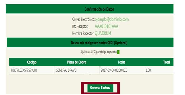 """FIGURA 5. CONFIRMACIÃ""""N DE DATOS Y GENERAR FACTURA"""